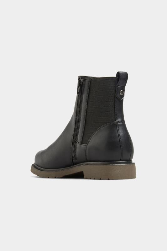 Chunky chelsea boots van imitatieleer in zwart