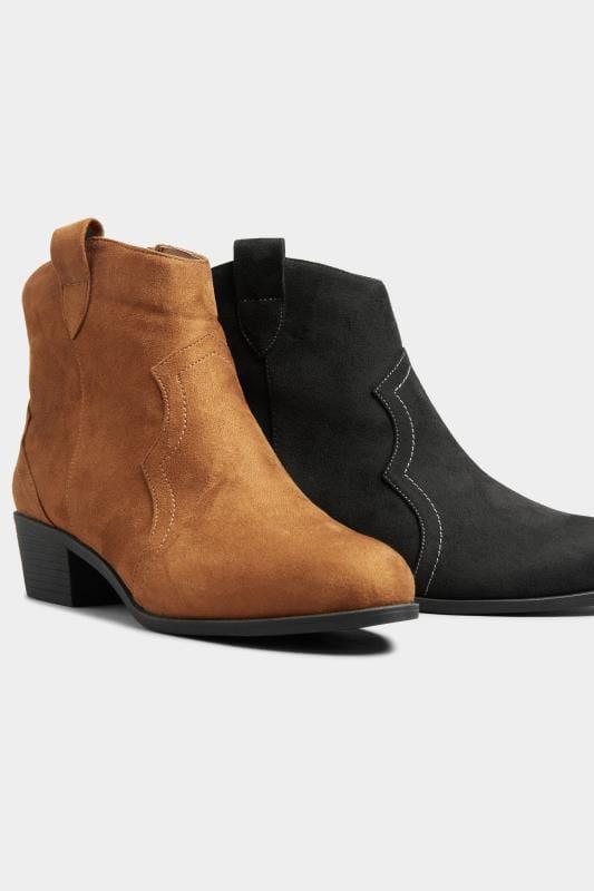 Western boots van bruin imitatiesuède