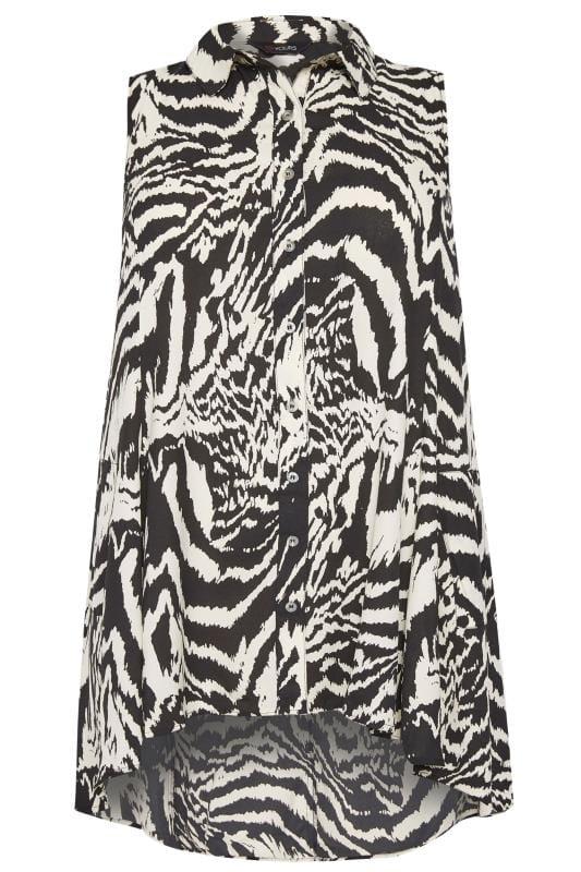 Hemd mit Zebra-Muster - Schwarz/Weiß