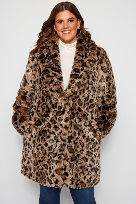 Plus Size Faux Fur Coats Natural Animal Faux Fur Coat