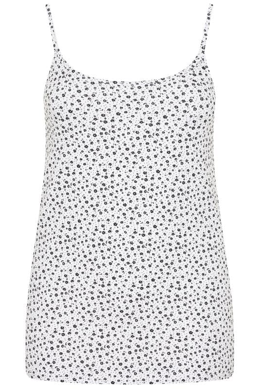 White Ditsy Floral Vest Top