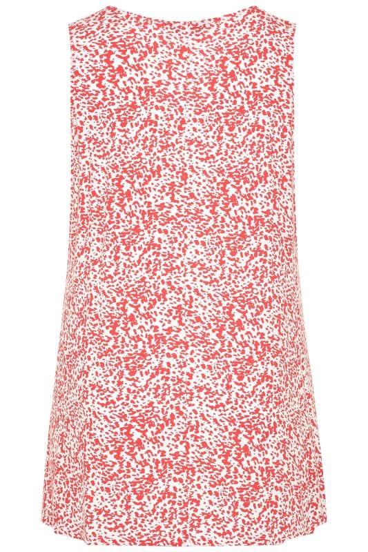 Coral Animal Print Swing Vest Top