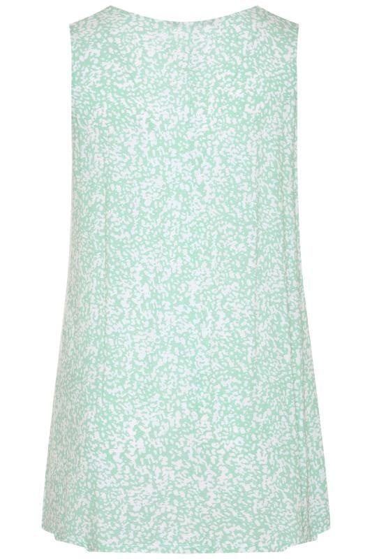 Mint Green Animal Print Swing Vest Top