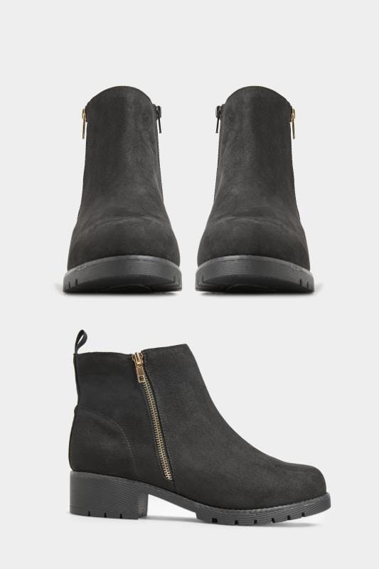 Black Vegan Faux Suede Chunky Boots In Extra Wide Fit_0ee6.jpg