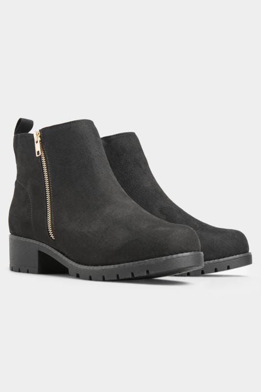 Black Vegan Faux Suede Chunky Boots In Extra Wide Fit_1858.jpg
