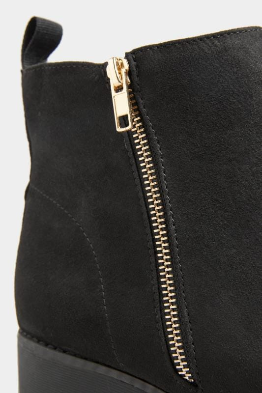 Black Vegan Faux Suede Chunky Boots In Extra Wide Fit_ae47.jpg