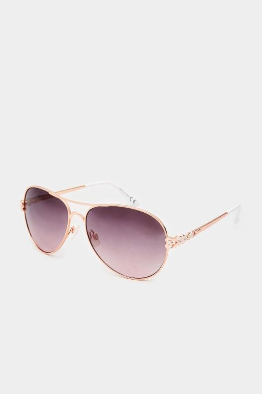 Sunglasses Rose Gold Aviator Sunglasses