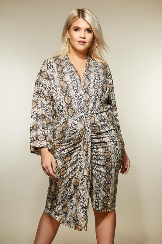 AX PARIS CURVE Snake Print Dress