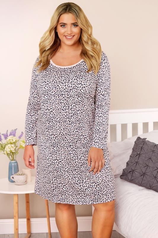 Pink Leopard Print Nightdress