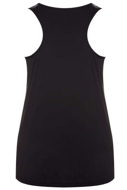 ACTIVE Black Animal Print Panel Vest