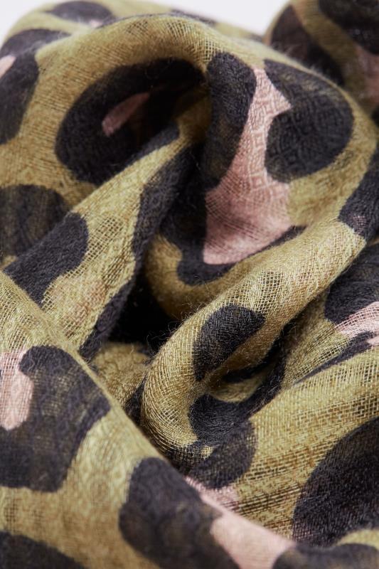 Khaki Animal Print Scarf