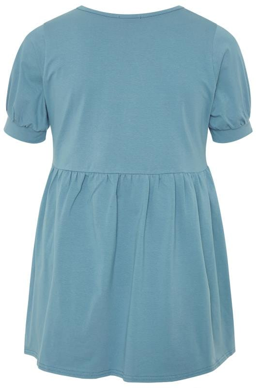 LIMITED COLLECTION Blue Cotton Smock Top