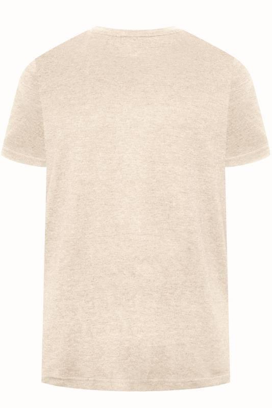 BAR HARBOUR Cream Plain Crew Neck T-Shirt