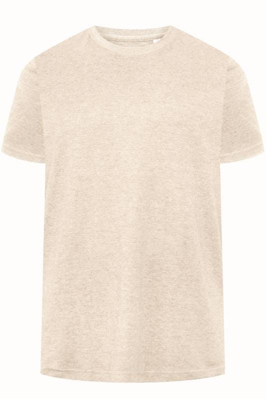 T-Shirts BAR HARBOUR Cream Plain Crew Neck T-Shirt  203317