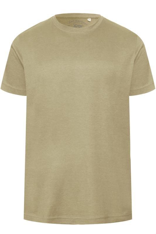 BAR HARBOUR Beige Plain Crew Neck T-Shirt
