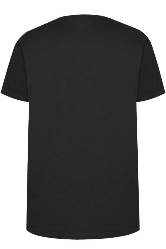 BAR HARBOUR Black Plain Crew Neck T-Shirt