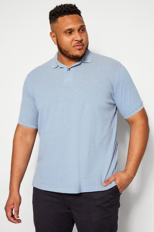 Plus Size Polo Shirts BAR HARBOUR Blue Polo Shirt