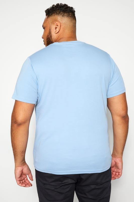 BAR HARBOUR Cornflower Blue Plain Crew Neck T-Shirt