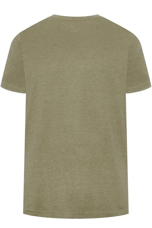 BAR HARBOUR Khaki Green Plain Crew Neck T-Shirt