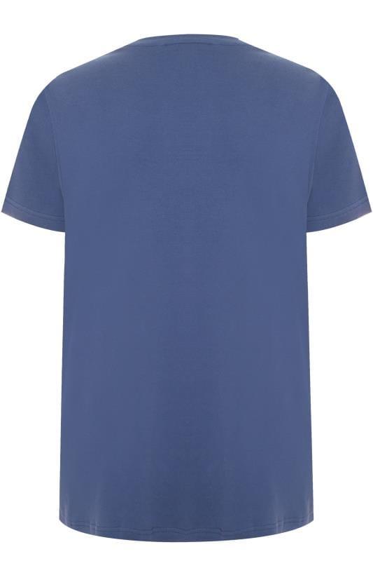BAR HARBOUR Navy Plain Crew Neck T-Shirt