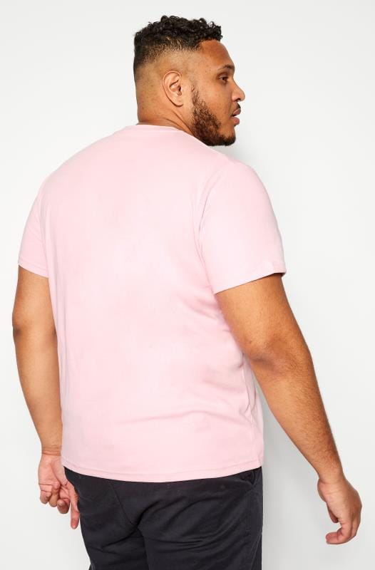 BAR HARBOUR Pink Plain Crew Neck T-Shirt