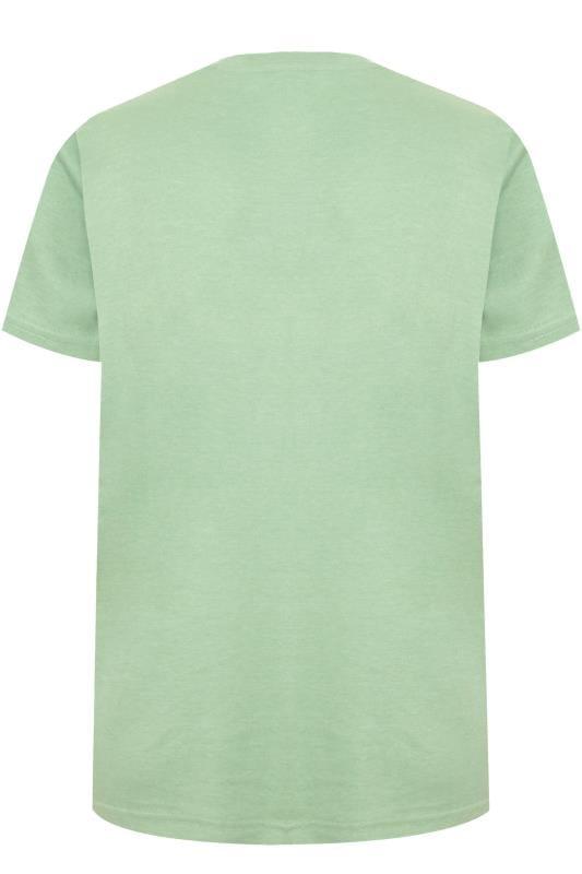 BAR HARBOUR Sage Green Plain Crew Neck T-Shirt