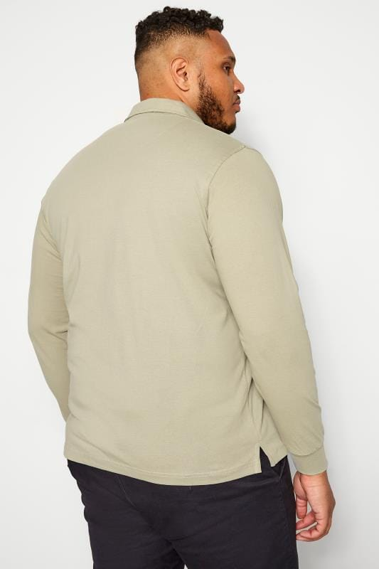 BAR HARBOUR Stone Long Sleeve Polo Shirt