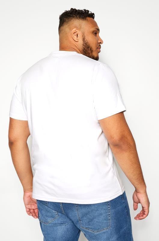 BAR HARBOUR White Plain Crew Neck T-Shirt