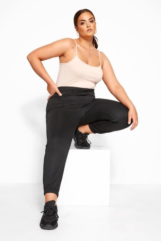 Plus Size Joggers LIMITED COLLECTION Black Basic Joggers