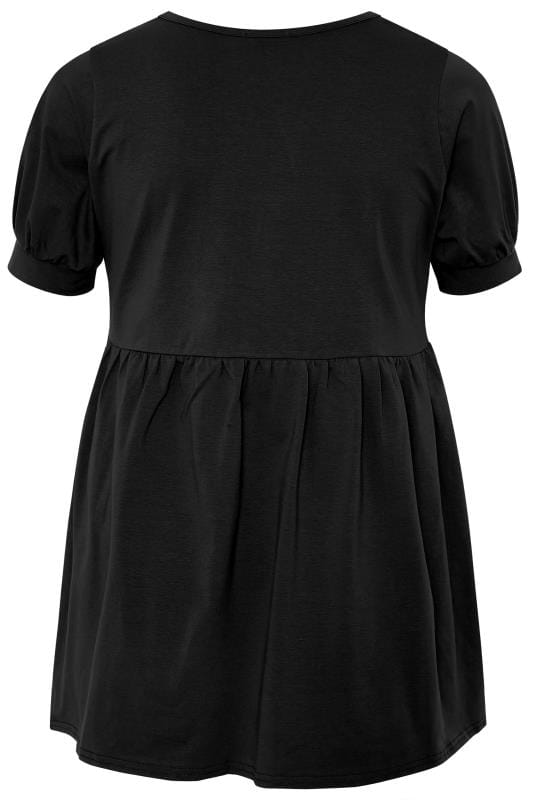 LIMITED COLLECTION Black Cotton Smock Top