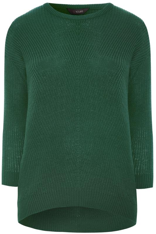 Forest Green Chunky Knitted Jumper