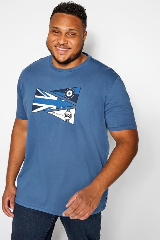 Plus Size Casual / Every Day BEN SHERMAN Blue Flags T-Shirt