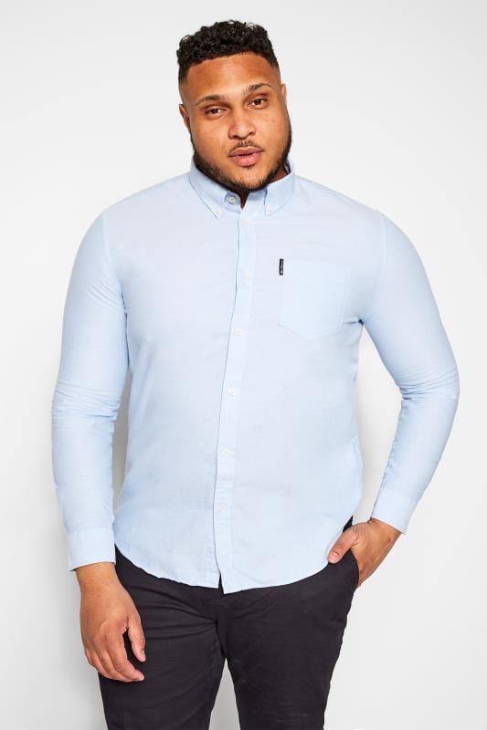 Smart Shirts BEN SHERMAN Blue Signature Oxford Shirt 201906
