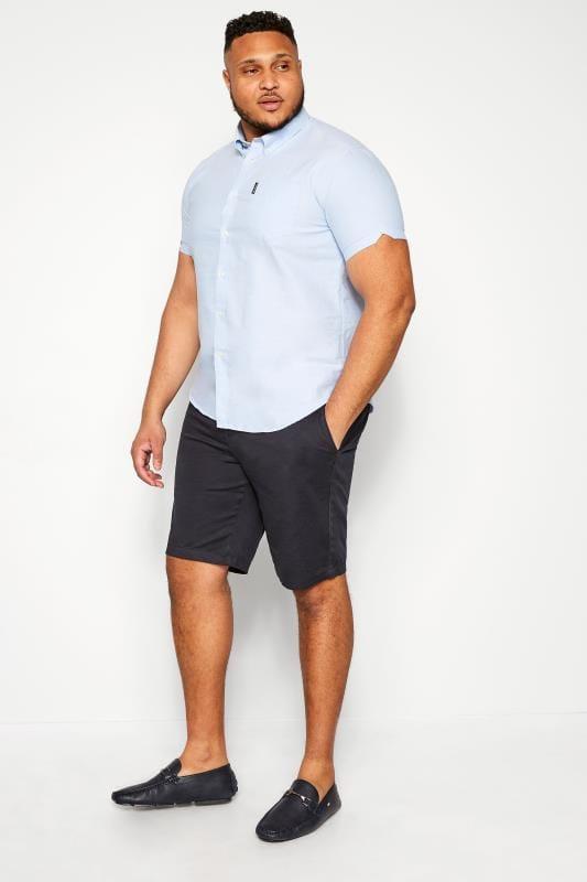 BEN SHERMAN Blue Signature Oxford Short Sleeve Shirt