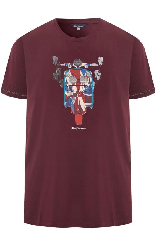 T-Shirts BEN SHERMAN Burgundy Scooter Flag T-Shirt 201447