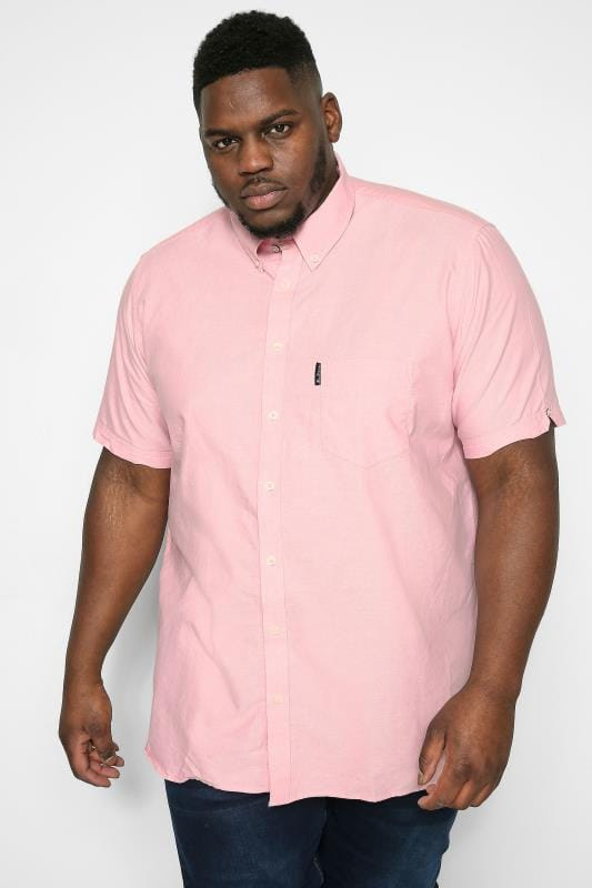 Plus Size Ben Sherman Shirts BEN SHERMAN Light Pink Signature Oxford Shirt