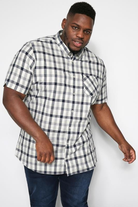 Plus Size Ben Sherman Shirts BEN SHERMAN Navy Check Shirt