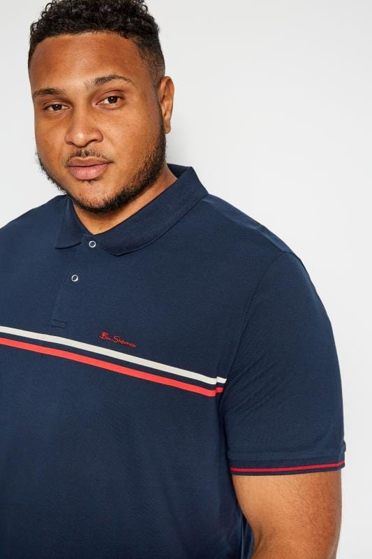 BEN SHERMAN Navy Retro Polo Shirt