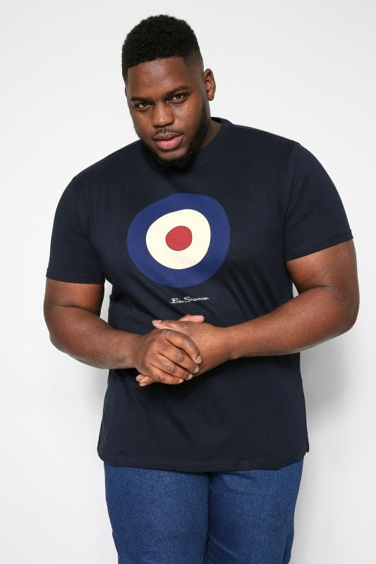 Plus Size Ben Sherman T-Shirts BEN SHERMAN Navy Target Graphic Print T-Shirt