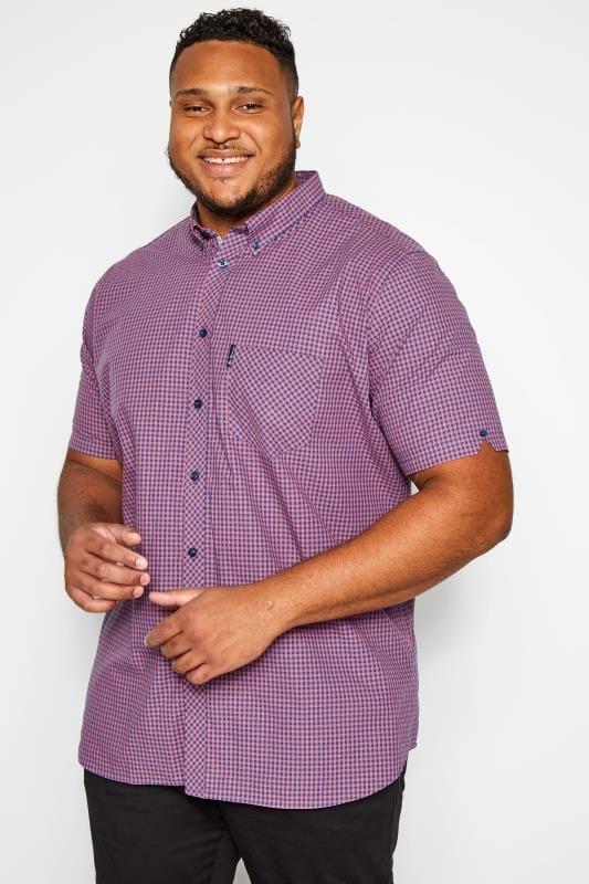 BEN SHERMAN Pink Gingham Check Shirt