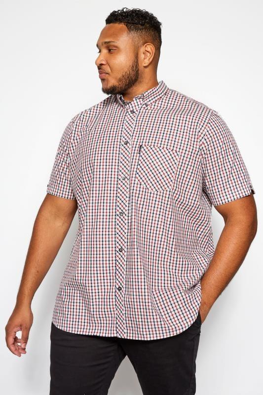 Smart Shirts BEN SHERMAN Red & Blue House Check Shirt 201438