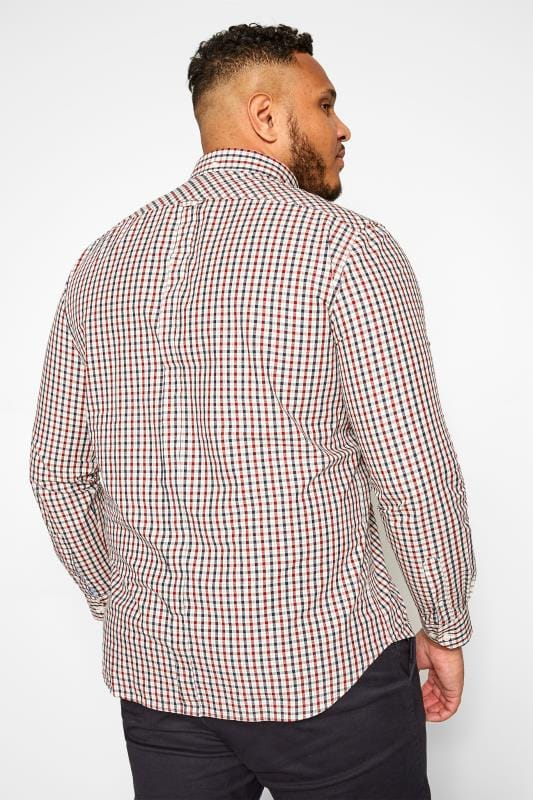 BEN SHERMAN Red Check Signature Oxford Short Sleeve Shirt