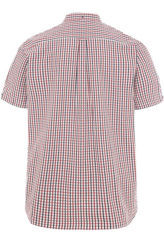 BEN SHERMAN Red Checked Button Down Shirt