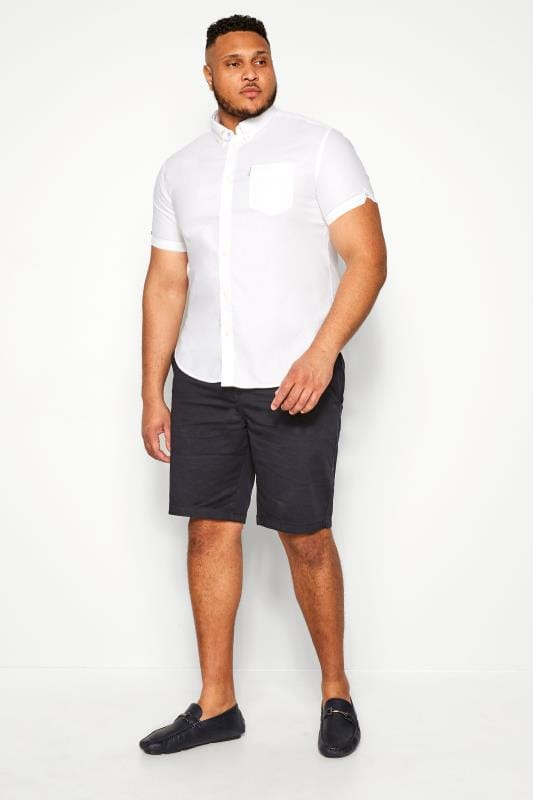 BEN SHERMAN White Signature Oxford Short Sleeve Shirt
