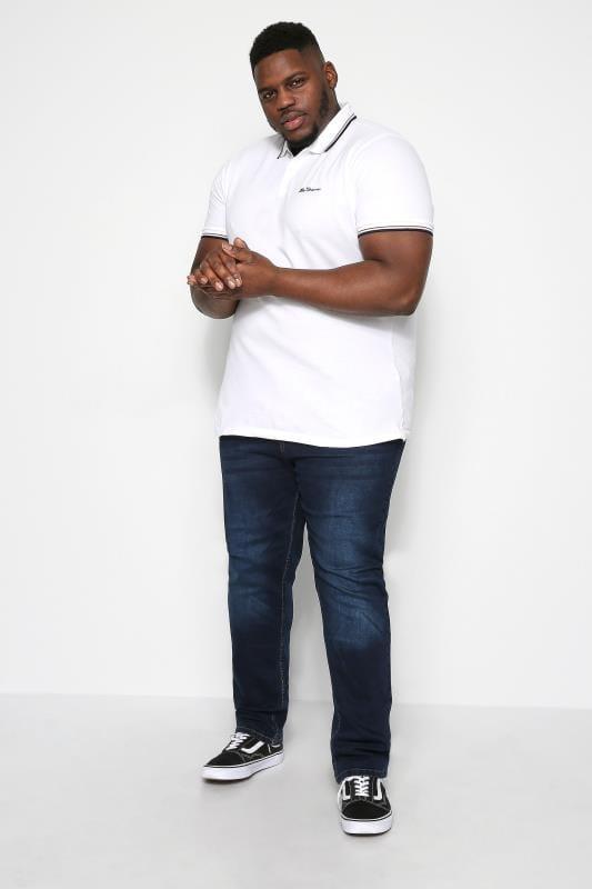 BEN SHERMAN White Signature Polo Shirt
