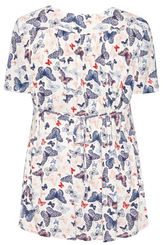 BUMP IT UP MATERNITY Wit shirt met vlinderprint