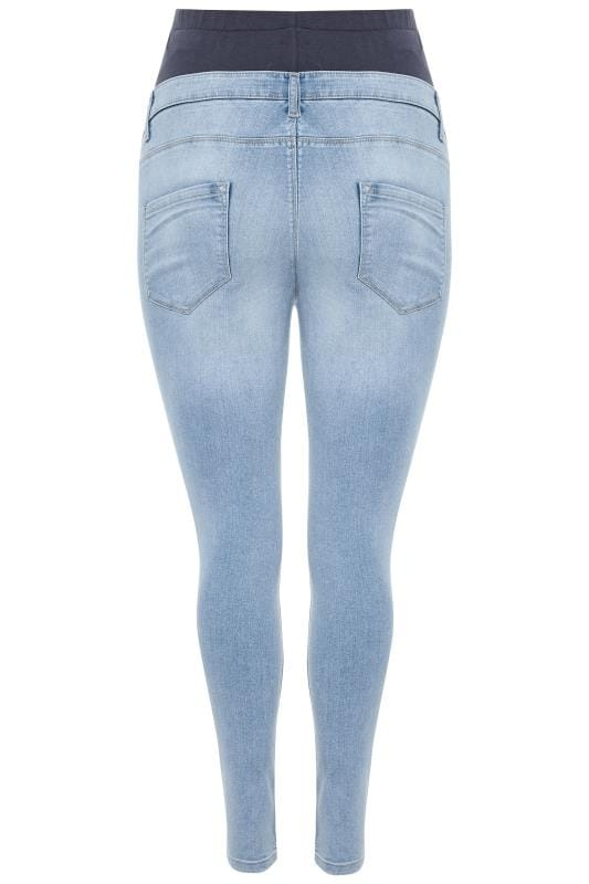 BUMP IT UP MATERNITY - Skinny jeans met hoge taille en stretch in lichtblauw