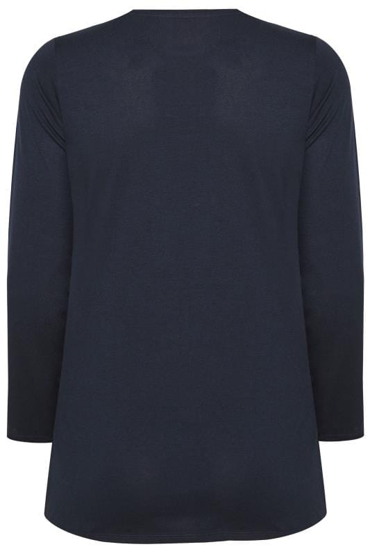 BUMP IT UP MATERNITY Navy Long Sleeve Top