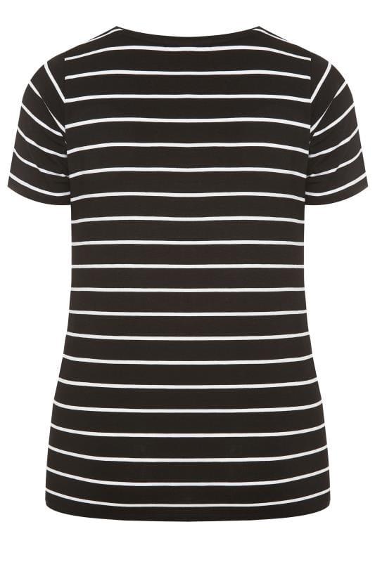 BUMP IT UP MATERNITY Black Striped T-Shirt