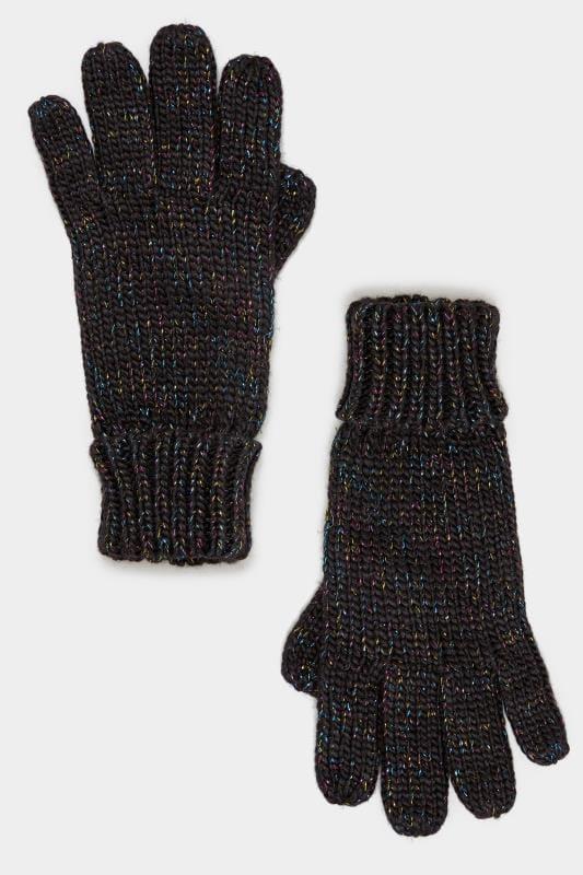 Black Metallic Gloves